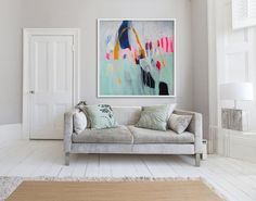 large abstract PRINT green white Giclée print by LolaDonoghue