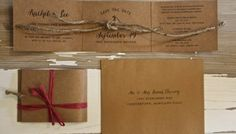 Rustic eco-chic nautical 'tying the knot' save the dates and invitations with hessian, lace and twine