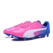 reserva región grado  Puma evoSPEED 17 FG SL S Soccer Cleats Pink White Blue | Soccer cleats  nike, Best soccer cleats, Soccer cleats