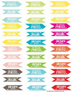 FREEBIE: Project Life Tags