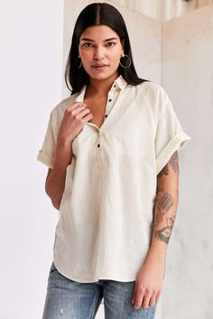 BDG Madison Popover Blouse