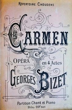 "March 3, 1875 program for Georges Bizet's opera ""Carmen"" in Paris"