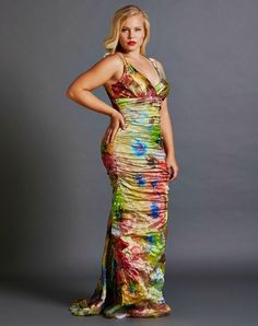 Crinkle Sunset Florista Print Gown by Nicole Miller Rental $170.00