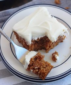 Applesauce Bars with Cream Cheese Frosting - 5 Boys Baker