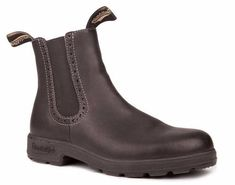 Blundstone 1448 Black with higher elastics and decorative leatherwork. Total comfort covered by the famous Blundstone warranty. Premium leather. Polyurethane mi