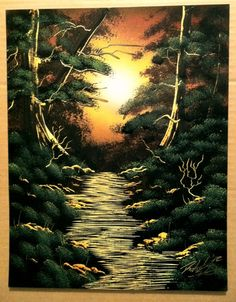 Forest Light 11x14 inch spray painting by RS10SprayPaint on Etsy, $30.00