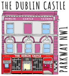 The Dublin Castle is one of London's most famous pubs. Now you can celebrate the history of this Camden legend with a hand drawn mug! Dublin Castle, Hand Illustration, Home Free, Camden, Madness, London, Mugs, Store, Stuff To Buy