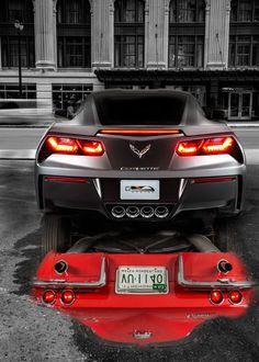 Stingray Reflection - Chevy Stingray Vette #cars #chevroletcorvette1963