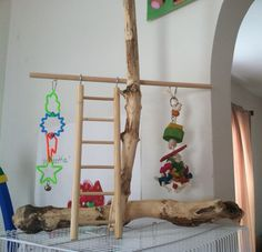 DIY Bird play stand! Don't spend hundreds of dollars when you can make one yourself!