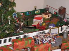 Our Christmas Platform Was Very Much Like This With Plasticville Houses And Lionel Trains