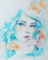 Free videos and tutorials – Katrina Koltes Watercolor Face, Watercolor Pencils, Watercolor Paintings, Ink Paintings, Inspiration For The Day, Altered Art, Creative Design, Fantasy Art, Disney Characters