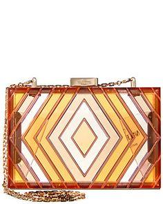 Valentino Garavani Valentino Native Couture Acrylic Box Clutch In Red Studded Handbags, Black Leather Handbags, Pink Leather, Valentino Gowns, Valentino Handbags, Valentino Garavani, Beige Purses, Red Handbag