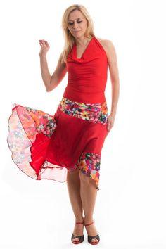 Seide Rock argentinischer Tango tanzen seidigen Röcke