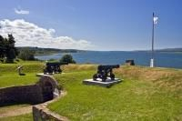 Fort Anne was built in 1634 and is now a National Historic Site, but back then it protected Annapolis Royal in the Bay of Fundy. This view is from the Fort which overlooks the Annapolis River.