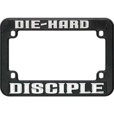 Religious Motorcycle License Frame - DIE-HARD DISCIPLE ** Find out more about the great product at the image link.