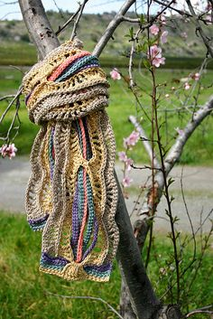 Scarf Crochet Pattern - A Tangle of Color Scarf Pattern.  via Etsy.