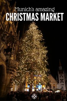 The amazing Christmas Market in Munich. Located in the very heart of Bavaria's capital, it counts among Germany's most visited holiday attractions Christmas In Europe, Europe Holidays, Christmas Markets, Christmas Hacks, Christmas Villages, Christmas Trees, Beautiful Places To Visit, Cool Places To Visit, Places To Go