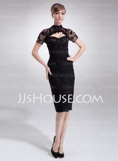 $162.49 - Sheath Sweetheart Knee-Length Chiffon Dress With Ruffle Beading (008005964) http://jjshouse.com/