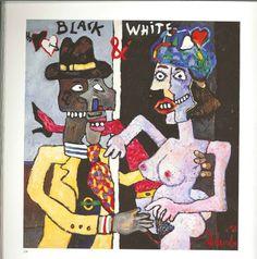 "Realismo de Alfonso Abelenda.  ""Black and white"" Técnica mixta sobre tabla. Puedes ver sus obras en http://novagalicia.com/index.php?pag=catalogo=30=24"