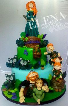 Brave cake, Valiente cake, Merida Disney cake