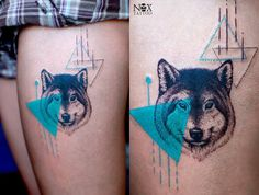 Wolf Design Tattoo