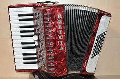 NEU         Delicia    Junior 22    rot         Diskant: 26 Tasten, 2 Register, 2-chörig    Bass: 48 Bass    Farbe: rot    Inkl. Tragriemen und Koffer