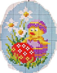 paste on Pinterest | Easter Chick, Easter and Cross Stitch Patterns