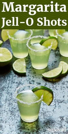 If you're into the sweet-salty-tart magic of Margaritas and are looking for a way to turn up your next party, these jiggly Jello shots are the answer.