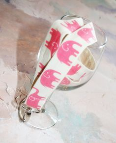 eb4267b3dbb Our Marching Elephants lanyard id badge holder in pink is oh so cute.  Details