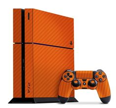 You've got the PS4 now make it your own with Slickwraps! Orange Carbon Fiber pictured is available now at www.slickwraps.com