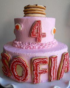 Pajama Party breakfast cake