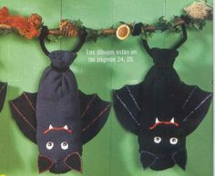 bat made out of socks. I would use wash cloths and use for decoration in the bathroom