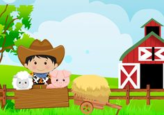 Convite Kit Fazendinha Menino 2 Year Old Birthday, Farm Birthday, Sons Birthday, Birthday Party Themes, Birthday Invitations, Barnyard Party, Farm Party, Birthday Background Design, Barn Parties