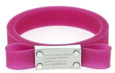 Marc by Marc Jacobs Jelly Bow Bangle in Pop Pink