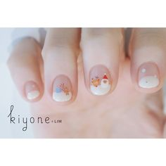 santa | gingerbread man | rudolph | reindeer | short gel polish nails | christmas nail art design | 2017 | simple