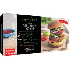 Slimming World 4 Syn-Free Beef Quarter Pounders 454g | Burgers | Frozen Meat & Poultry | Frozen | Iceland