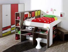 Kids bedroom Loft - Kid's Bedroom Furniture Exciting Loft Bed Designs Loft Bedroom Kids, Kids Bedroom Furniture, Home Furniture, Bedroom Decor, Loft Beds, Bunk Beds, Bedroom Ideas, Home Design, Interior Design