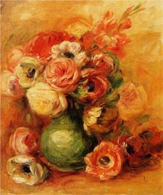 """Flowers""  --  1901  --  Pierre-Auguste Renoir  --  French  --  Oil on canvas  --  Private Collection"