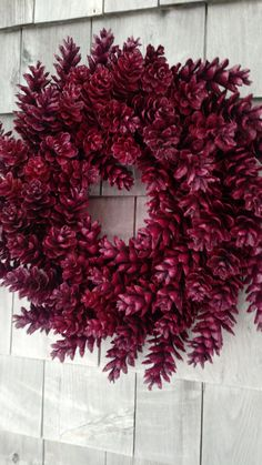 Pinecone Wreath -Berry Red- Maine Made