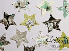 Stamp 2 LiNotte: Mini-album étoiles - Stampin'Up ! Artisan Blog Hop - Décembre # 3