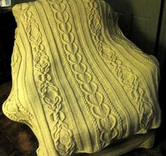 Hand Knitting Tutorials: Gift of Love Cable Afghan - Free Pattern