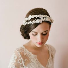 1920s twigs and honey hairpiece