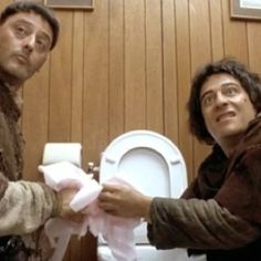 Les visiteurs de jean michel Poiré with christian clavier and jean reno. One of the best french comedy of the latest century