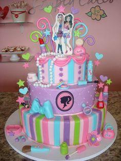 barbie cake ideas - Google Search Barbie Party Decorations, Barbie Theme Party, Barbie Birthday Cake, 3rd Birthday Cakes, 6th Birthday Parties, Birthday Ideas, Cupcakes, Cupcake Cakes, Barbie Cake Designs
