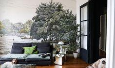 Salon Panorama Au fil des couleurs Sculpture Parquet Vert Appartement Neuilly Amélie Colombet