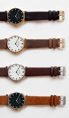 Didn't I say or didn't I say how simple watches can help you One Up the others? Here's some proof how aesthetically pleasing are simple watches. Simple Watches, Watches For Men, Nice Watches, Men's Watches, Trendy Watches, Amazing Watches, Casual Watches, Wrist Watches, Vintage Watches