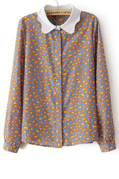 Leopard Button-up Shirt OASAP.com