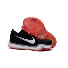 best service 06bb1 89e69 The cheap Authentic Kobe 10 Elite Woven Black Red White Shoes factory store  are awesome pair of shoes but it seems the super high top design isn t for  ...