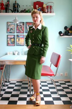 Green 1940s suit