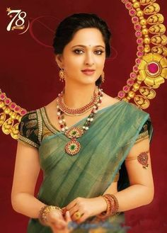 Tussi necklace. Beautiful blouse and saree